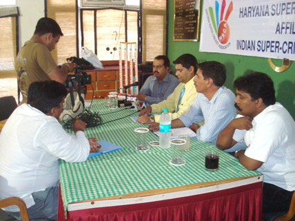 Launching of Haryana Super-Cricket Assocaition